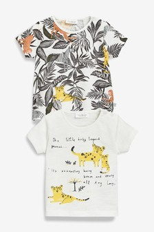 Animal T-Shirts Two Pack (0mths-2yrs)