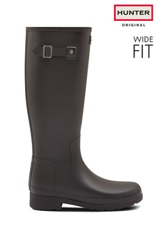 Hunter Black Original Wide Fit Tall Welly