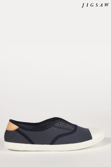 Jigsaw Blue Libby Canvas Plimsoll
