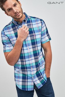 GANT Madras Colourful Regular Short Sleeved Shirt