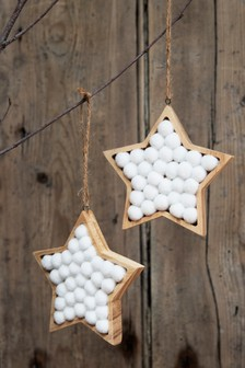 Set of 2 Wooden Baubles