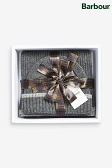 Barbour® Cromer Grey Beanie And Scarf Gift Set