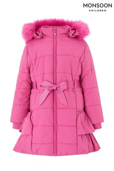 Manteau Monsoon Cerise Ceri matelassé