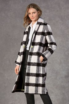 Revere Collar Check Coat