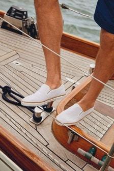 next mens canvas shoes