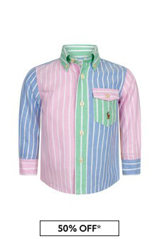 Ralph Lauren Kids Baby Boys Multi Cotton Shirt