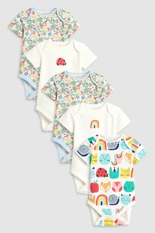 Ladybird Character Short Sleeve Bodysuits Five Pack (0mths-2yrs)