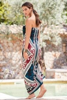 Платье макси с этническим рисунком