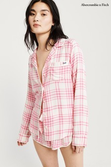 Abercrombie & Fitch Rainbow Pink Long Sleeve Shirt