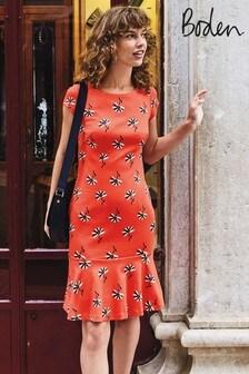 שמלה מבד פונטה של Boden דגם Rosetta באדום
