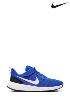 Nike Blue/White Revolution 5 Junior Trainers