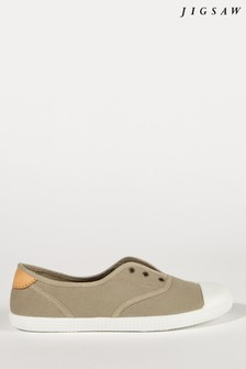 Jigsaw Cream Libby Canvas Plimsoll