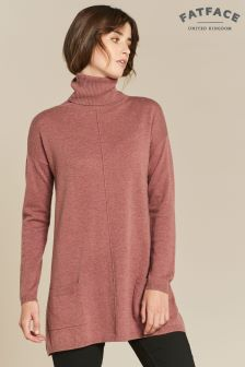 FatFace Pink Suzie Swing Roll Neck Jumper