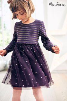 Boden Purple Party Dress