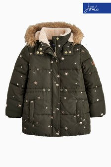 Joules Green Star Stella Padded Coat