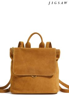 Jigsaw Tan Wyatt Leather Mix Backpack