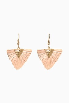 Straw Small Statement Earrings