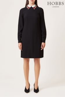 Hobbs Black Theodora Dress