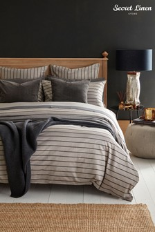 Secret Linen Store Breton Stripe Cotton Duvet Cover