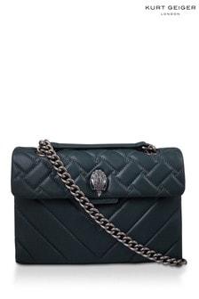 Kurt Geiger London Teal Leather Kensington Bag