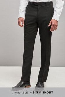 Plain Front Trousers With Teflon® Finish
