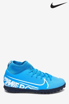 Nike Blue Superfly Club Turf Junior & Youth Football Boots
