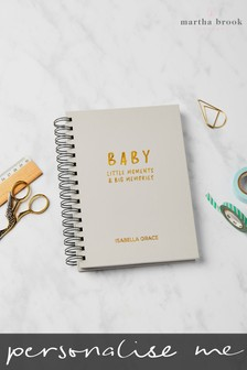 Personalised Baby Memory Book by Martha Brook