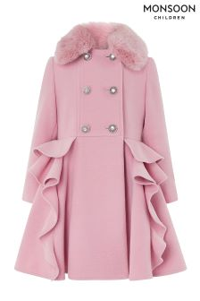 Monsoon Ava Ruffle Coat