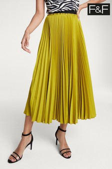 F&F Lime Pleated Skirt