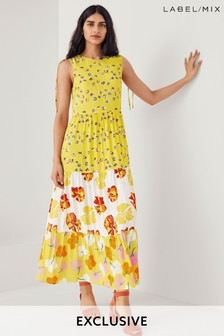 Mix/Caroline Issa Mix Print Floral Maxi Dress