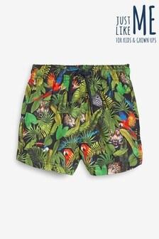 Chłopięce szorty kąpielowe Matching Family z nadrukiem dżungli (3m-cy-16lata)