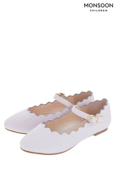 Ballerines festonnées Monsoon Lillian lilas