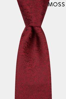 Moss 1851 - Cravatta vinaccia floreale