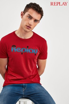 Replay® Retro Lined Logo T-Shirt