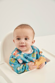 Woodland Character Long Sleeved Dribble Proof Bib