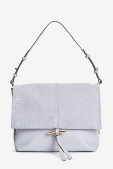 Embossed Leather Shoulder Bag