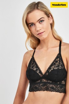 Wonderbra® Black Wireless Triangle Bralette