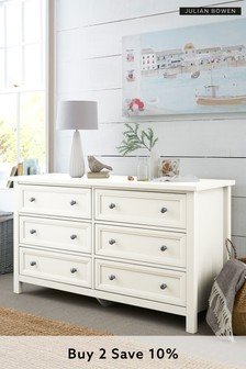 Harbour White Wide Chest
