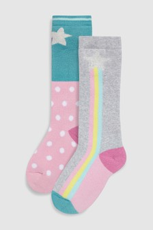 Pastel Rainbow Welly Socks (Younger)