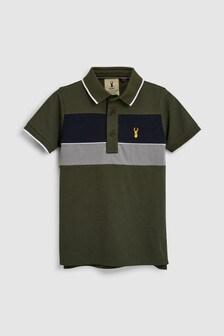 Colourblock Polo T-Shirt (3-16yrs)