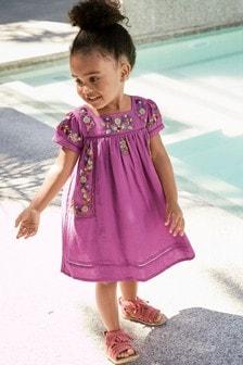 Obleka z vezeninami (3 mesecev–7 let)