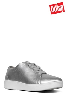 FitFlop™ Silver Tennis Leather Trainer