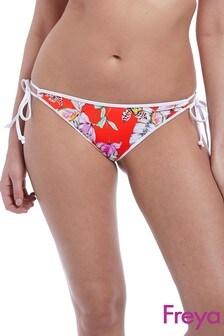Freya Red Wildflower Tie Side Bikini Brief