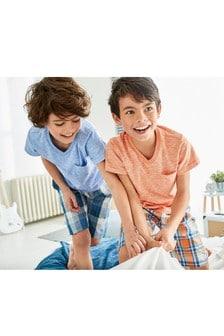 Два пижамных комплекта с ткаными брюками в клетку (3-16 лет)