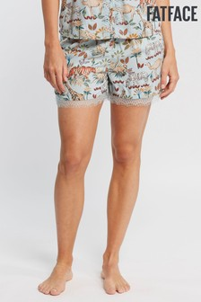FatFace Green Jungle Animals Lace Short