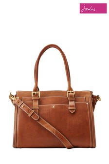 Joules Tan Womens Leather Everyday Bag