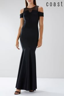 Coast Black Lorna Fishtail Maxi Dress