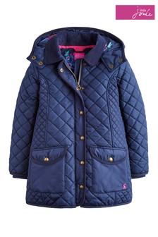 Joules Navy Newdale Hooded Quilted Jacket