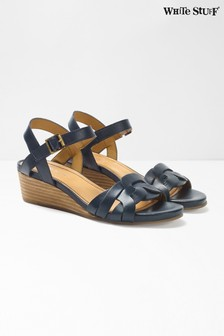 White Stuff Blue Clarissa Wedge Sandals