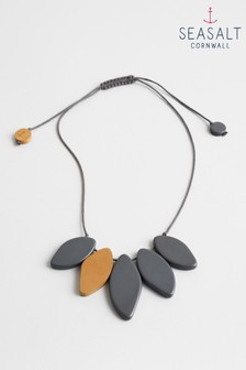 Seasalt Grey Flint Paint Splash Necklace